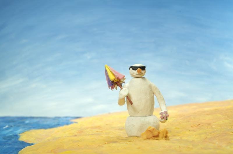 Carota sulla spiaggia